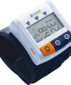 Kompakts automātiskais asinspiediena mērītājs lietošanai uz plaukstas pamatnes locītavas.