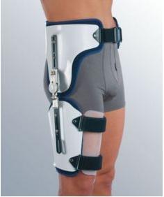 Gūžas locītavas ortoze ar iespējamu kustību apjoma ierobežojumu.